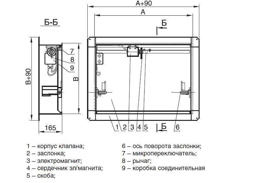 Схема конструкции клапана
